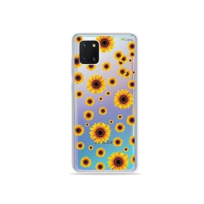 Capinha Girassóis para Galaxy Note 10 Lite
