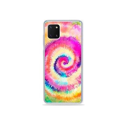Capinha Tie Dye para Galaxy Note 10 Lite