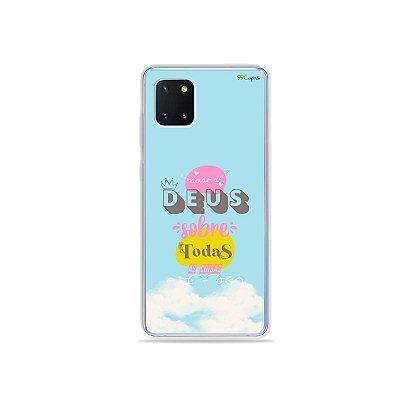 Capinha Amar a Deus para Galaxy Note 10 Lite
