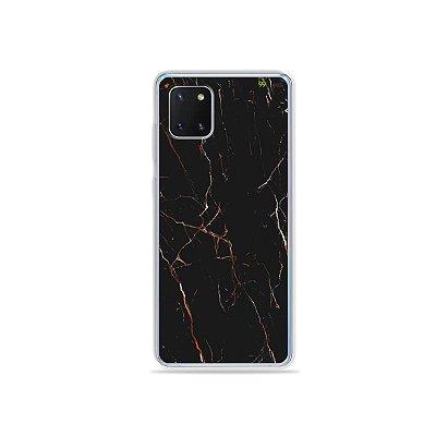 Capinha Marble Black para Galaxy Note 10 Lite