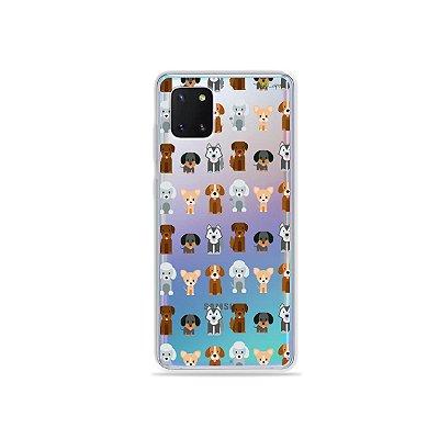 Capinha Doguinhos para Galaxy Note 10 Lite
