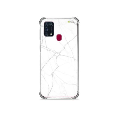 Capinha (transparente) para Galaxy M31 - Marble White