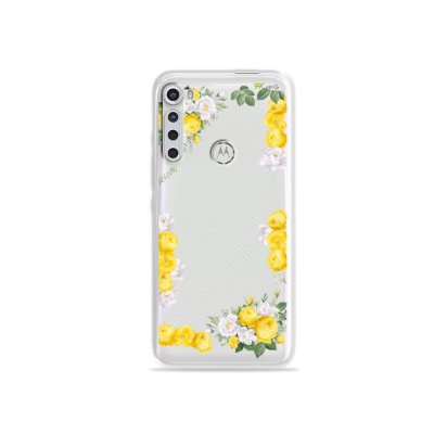 Capinha para Moto One Fusion Plus - Yellow Roses