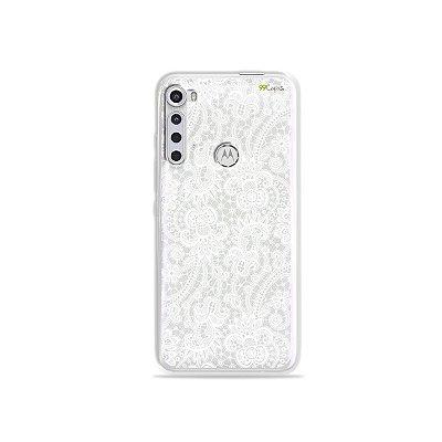 Capinha (transparente) para Moto One Fusion Plus - Rendada