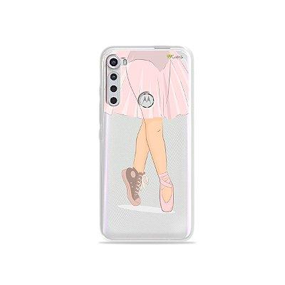 Capinha (transparente) para Moto One Fusion Plus - Bailarina