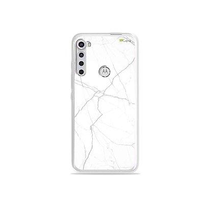 Capinha para Moto One Fusion Plus - Marble White