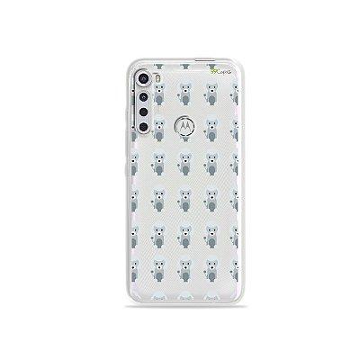 Capinha (transparente) para Moto One Fusion Plus - Poodle