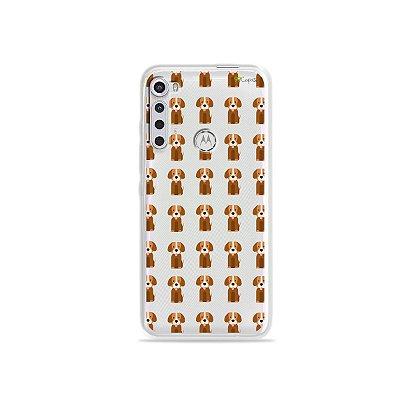 Capinha (transparente) para Moto One Fusion Plus - Golden