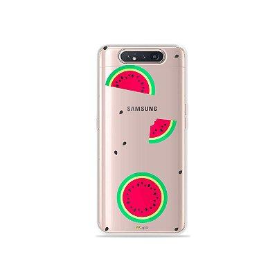 Capinha (Transparente) Melancias para Galaxy A80