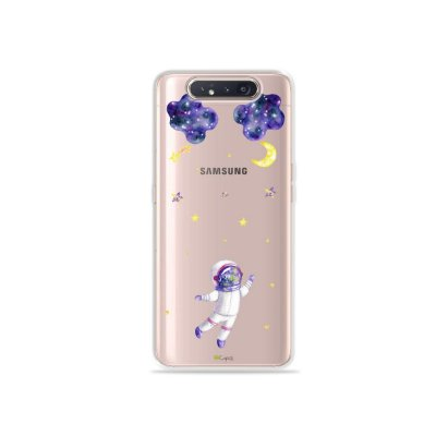 Capinha (Transparente) Astronauta Sonhador para Galaxy A80