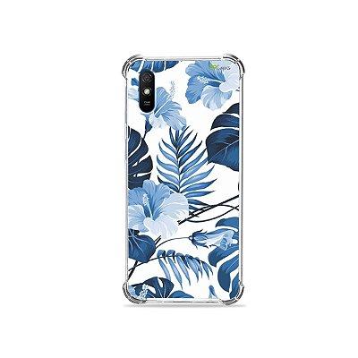 Capinha para Redmi 9A - Flowers in Blue