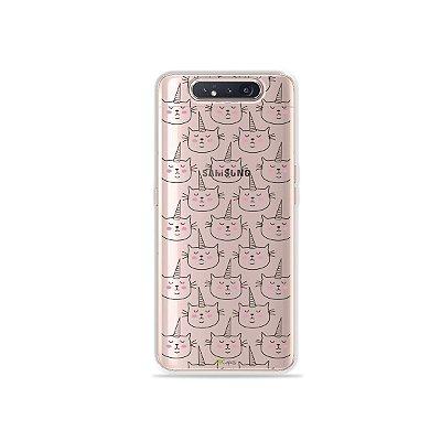 Capinha (Transparente) Catcorn para Galaxy A80