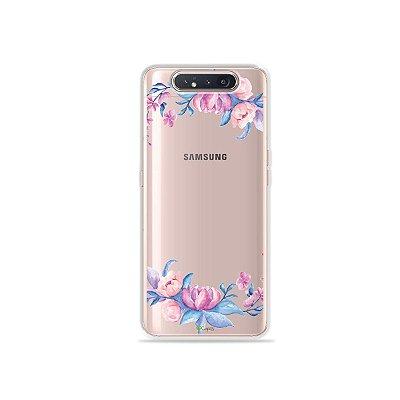 Capinha (Transparente) Bromélias para Galaxy A80