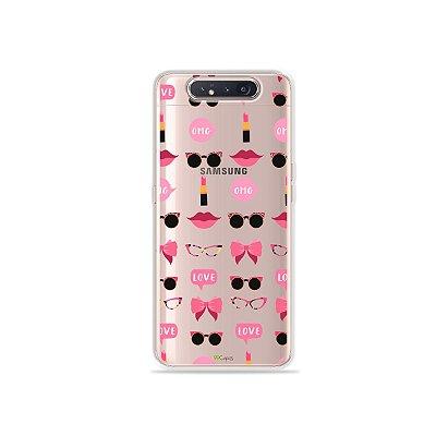 Capinha (Transparente) Girls para Galaxy A80
