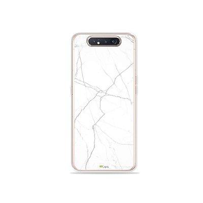 Capinha Marble White para Galaxy A80