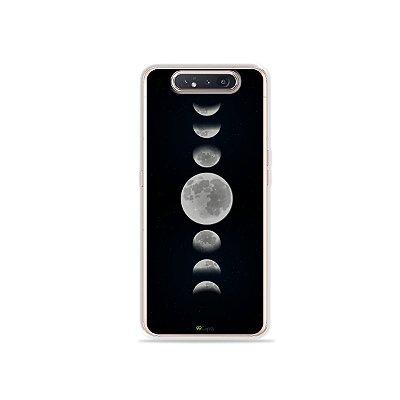 Capinha Fases da Lua para Galaxy A80