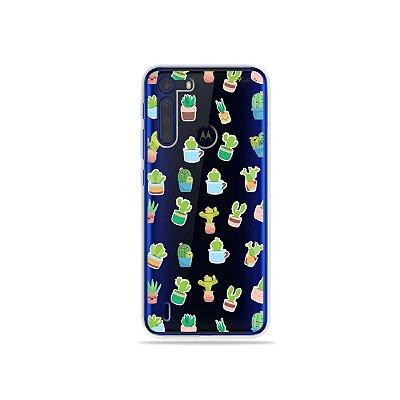 Capinha (Transparente) Cactus para Moto One Fusion