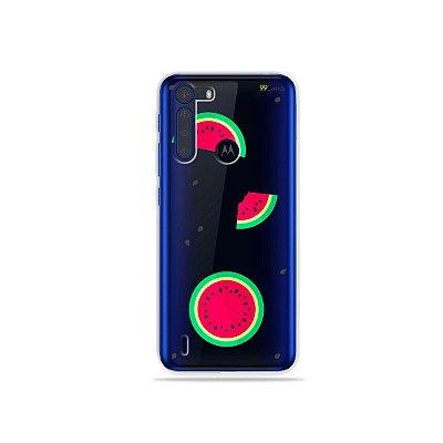 Capinha (Transparente) Melancias para Moto One Fusion