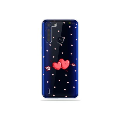 Capinha (Transparente) In Love para Moto One Fusion