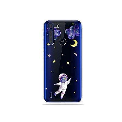 Capinha (Transparente) Astronauta Sonhador para Moto One Fusion