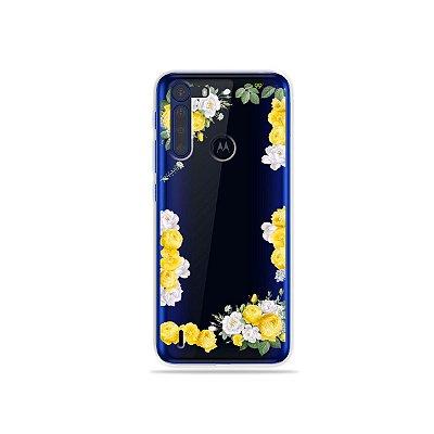 Capinha (Transparente) Yellow Roses para Moto One Fusion