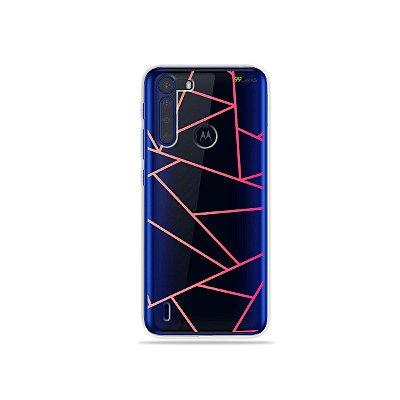 Capinha (Transparente) Abstrata para Moto One Fusion