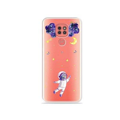 Capinha (Transparente) Astronauta Sonhador para Moto G9 Play
