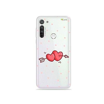 Capa (transparente) para Moto G8 - In Love