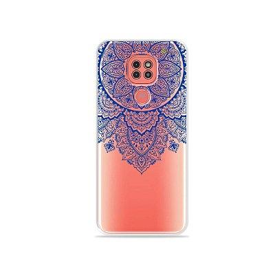 Capinha (Transparente) Mandala Azul para Moto G9 Play