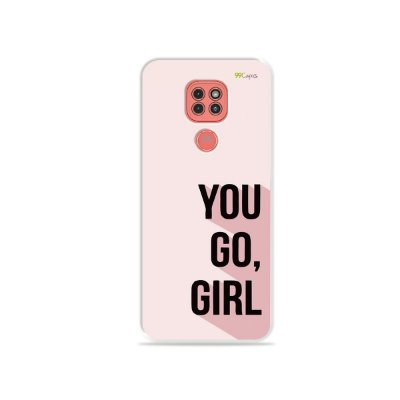 Capinha (Transparente) You Go, Girl para Moto G9 Play