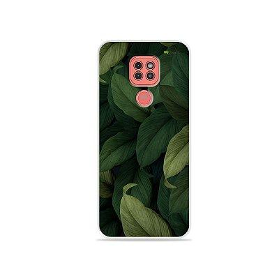 Capinha Folhas para Moto G9 Play
