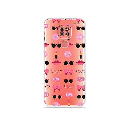 Capinha (Transparente) Girls para Moto G9 Play