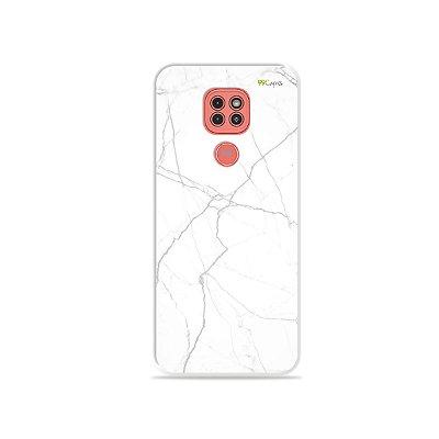 Capinha Marble White para Moto G9 Play