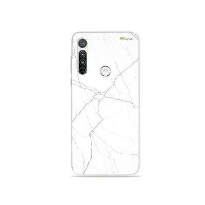 Capa para Moto G8 - Marble White