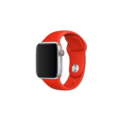 Pulseira Red de Silicone para Apple Watch - 44mm