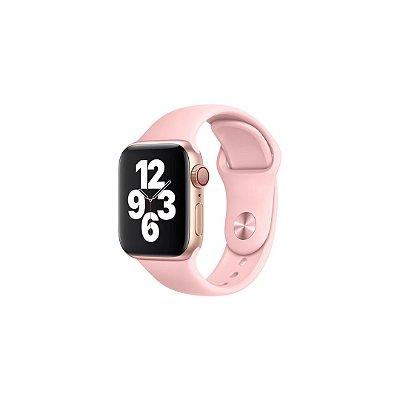 Pulseira Rosa Bebê de Silicone para Apple Watch - 44mm