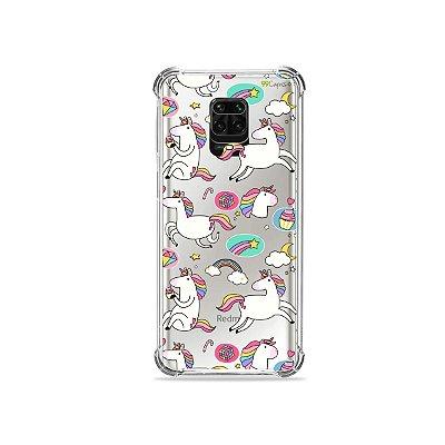 Capinha (Transparente) para Redmi Note 9 Pro - Unicórnios Felizes