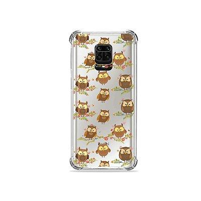 Capinha (Transparente) para Redmi Note 9 Pro - Corujinhas