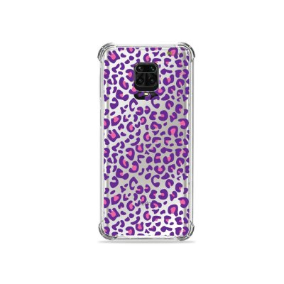 Capinha (Transparente) para Redmi Note 9 Pro - Animal Print Purple