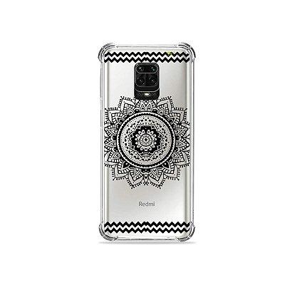 Capinha (Transparente) para Redmi Note 9 Pro - Mandala Preta