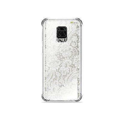 Capinha (Transparente) para Redmi Note 9 Pro - Rendada