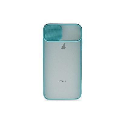 Capinha Soft Azul com proteção de câmera para iPhone 8 - 99Capas