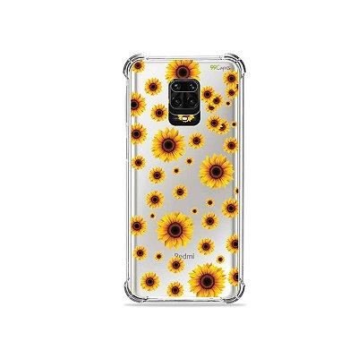 Capinha (Transparente) para Redmi Note 9 Pro - Girassóis