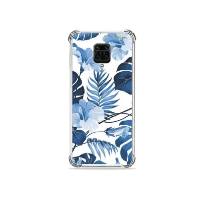 Capinha para Redmi Note 9 Pro - Flowers in Blue