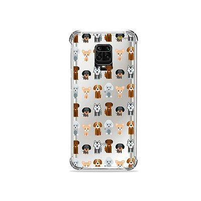 Capinha (Transparente) para Redmi Note 9 Pro - Doguinhos