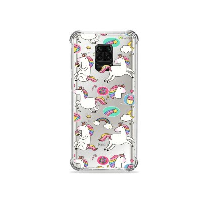 Capinha (Transparente) para Redmi Note 9S - Unicórnios Felizes