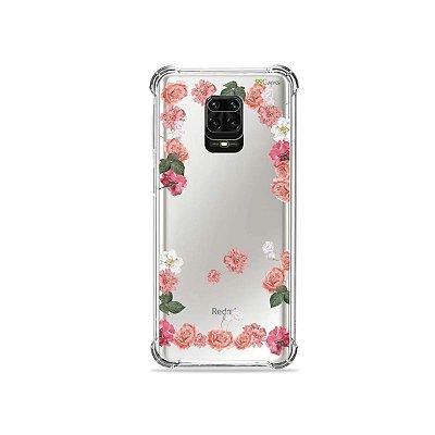 Capinha (Transparente) para Redmi Note 9S - Pink Roses