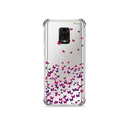 Capinha (Transparente) para Redmi Note 9S - Borboletas Flutuantes
