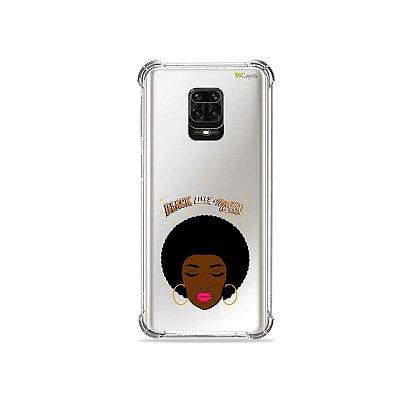 Capinha (Transparente) para Redmi Note 9S - Black Lives