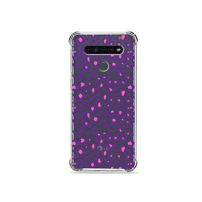 Capinha (Transparente) para LG K41s - Animal Print Purple